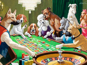 """Постер для бильярдной """"Собаки играют в покер"""""""